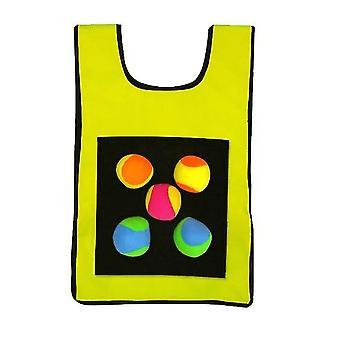 Kinder Sticky Jersey Weste 5 Stück Sticky Wurfbälle (Gelb)