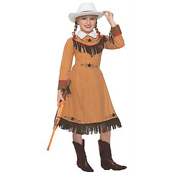 Western Texas Rosie Annie Oakley Sharpshooter Cowgirl Bok Uke Jenter Kostyme