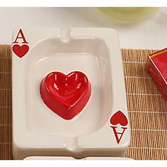 Eurooppalainen pokeri Ashtray Creative Porcelain Ashtray Fashion Trend Kotitaloustuotteet