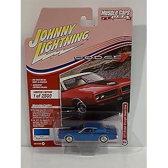 1971 Dodge Charger Super Bee Bright Blue 1:64 Johnny Lightning JLMC025A