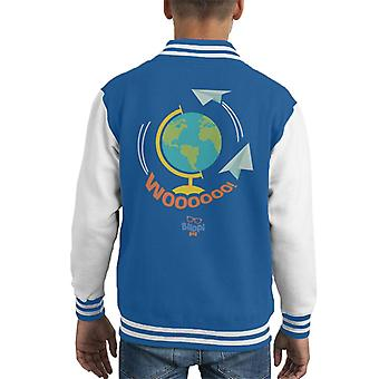 Blippi Travel The World Woooooo Kid's Varsity Jacket