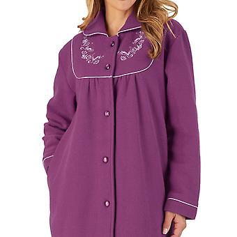 Slenderella Boucle Fleece HC2326 Kvinders Plum Dressing Kjole
