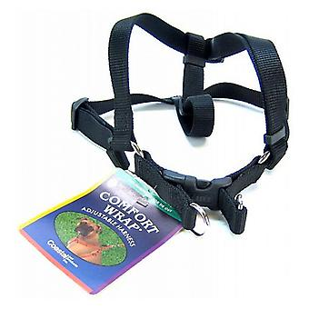 "Coastal Pet Comfort Wrap Adjustable Harness - Black - Medium (Girth Size 20""-32"")"