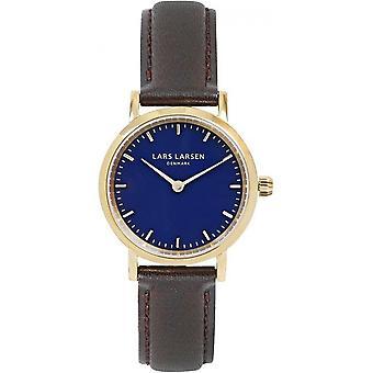 LLarsen (Lars Larsen Brown Genuine Leather) WH124GD-BLLG14 Women's Watch