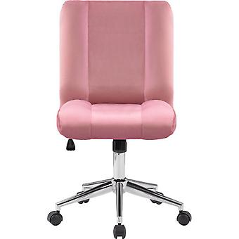 Pink Velvet Swivel Office Chair With Luxurious Cushion