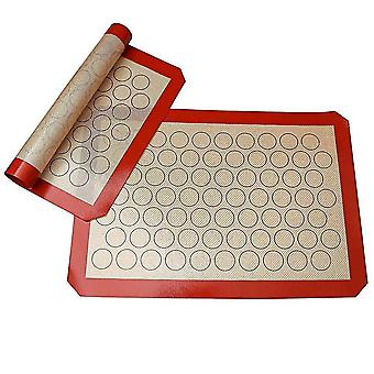 Baking cookie sheets silicone macaron baking mat for bake pans macaroon/pastry/cookie making professional grade