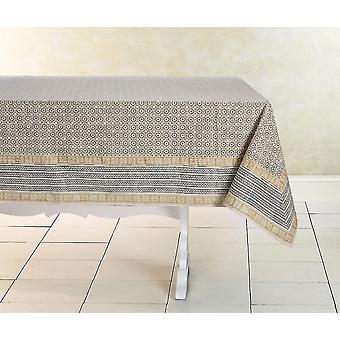 Tablecloths spura home hand made indian oriental delight vista cotton tablecloth 5'x7'
