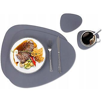 4 helykészlet asztalkészletekhez, étkészletekhez, hőálló, csúszásmentes, mosható, kalorimált, konyhaasztal-készletekhez, nordic stílusú asztalkészletekhez (asztali szőnyeg)