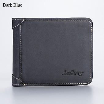Miesten lompakko nahka yritys taitettava lompakko Ylellinen Billfold Slim Hipster Cowhide Luottokortti / id haltijat lisää kolikon kukkarot