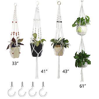 植物ハンガー、壁ハンギングプランターバスケット装飾、屋内屋外用