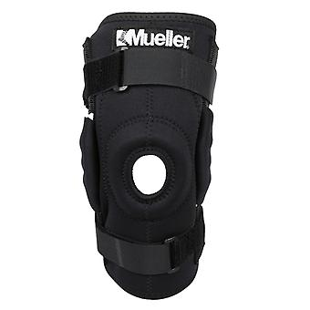 Mueller Hinged Wraparound Knee Brace - Black