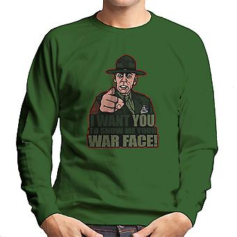 War Face Gunnery Sgt. Hartman Full Metal Jacket Men's Sweatshirt