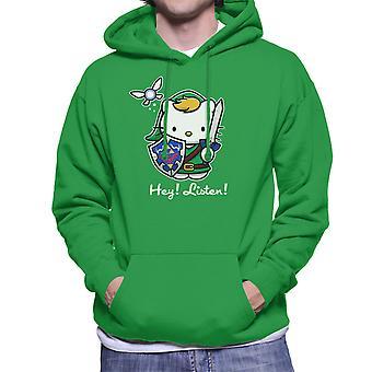 Hey Listen Link Hello Kitty Zelda Men's Hooded Sweatshirt
