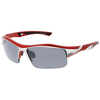 Semi-montuurloze TR-90 onsplinterbaar Lens sport Wrap zonnebril 68 mm