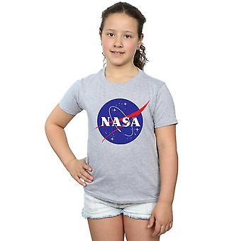 NASA 女性古典的な記章のロゴ t シャツ