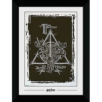 Harry Potter Deathly Hallows Graphic Collector Print 50x70cm