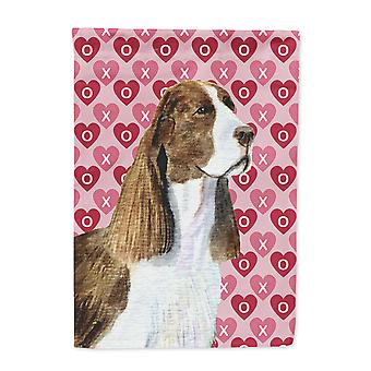 Carolines Treasures  SS4513-FLAG-PARENT Springer Spaniel Hearts Love Valentine's