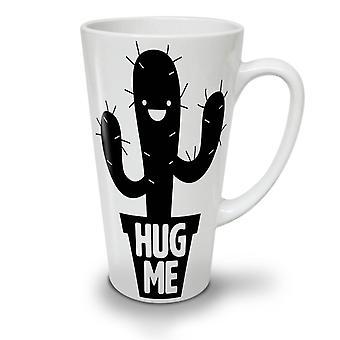 Hug Me Cactus Irony NEW White Tea Coffee Ceramic Latte Mug 12 oz | Wellcoda