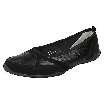 Ladies Down To Earth Leather Casual Shoes F80377