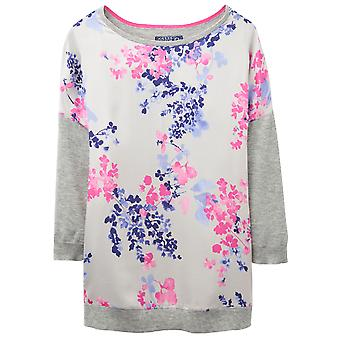 Joule Ladies Kitty floreale stampa trimestre manica maglione Jumper