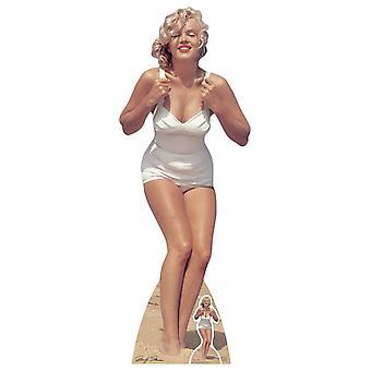 Marilyn Monroe White Swimsuit Lifesize Cardboard Cutout / Standee