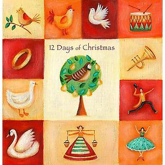 Twelve Days Of Christmas Poster drucken, indem Sie AV Kunst