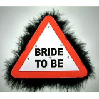 Blinken Warnung Zeichen großen Brosche Braut sein (Satz 1)