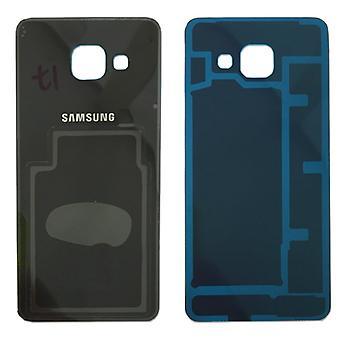 Cubierta de batería Samsung GH82-11093B para Galaxy A3 2016 A310F + cojín adhesivo negro