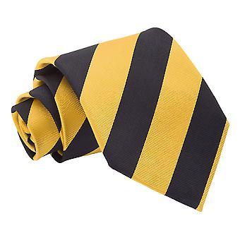 Keltainen & musta raidallinen klassinen Tie