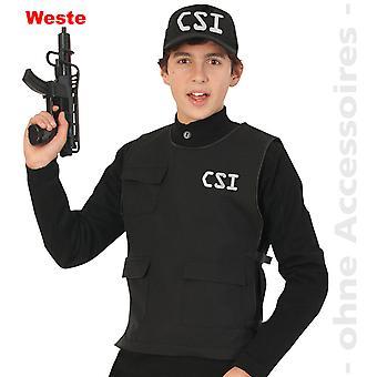 CSI vest krigere politiet skudsikre vest teen kostume