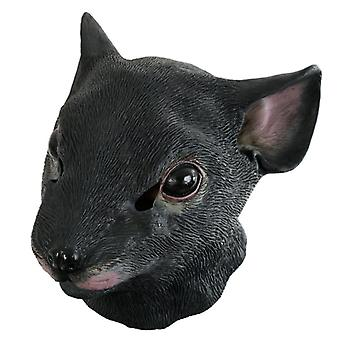 Maske Maus schwarz Vollmaske Ratte Tiermaske Karneval