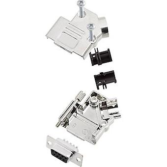 encitech D45PK-M-09-DMS-K 6355-0010-11 D-SUB-opvangbakje set 45 ° aantal pinnen: 9 soldeer emmer 1 set