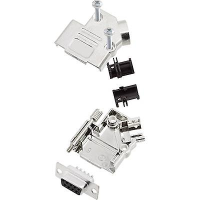 encitech D45PK-M-09-DMS-K 6355-0010-11 D-SUB receptacle set 45 ° Number of pins: 9 Solder bucket 1 Set