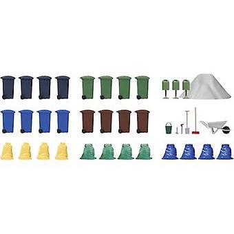 Busch BU 1136 H0 Garbage set Plastic