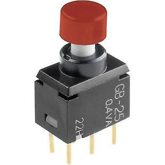 NKK Switches GB25AH Pushbutton 28 V DC/AC 0.1 A 2 x On/(On) momentary 1 pc(s)