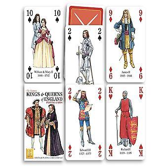 Kings & królowych Anglii zestaw z 52 kart (+ Jokers)