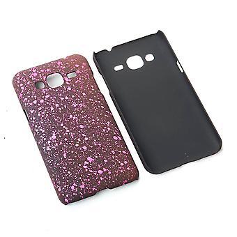 Cell phone dækning case kofanger shell for Samsung Galaxy J3 3D stjerne Pink