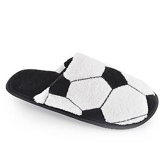 SlumberzzZ Boys Football Design Fleece Slip On Slipper