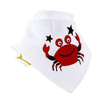White & red crabby catch all bandana bib