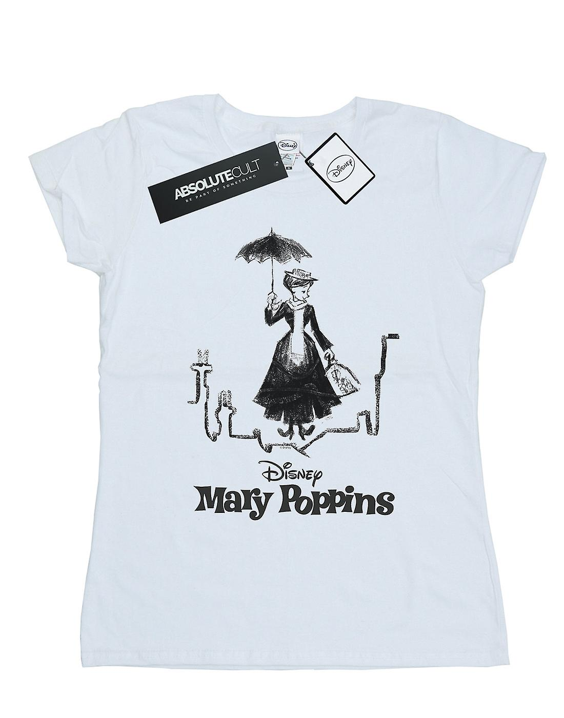 Disney Women's Mary Poppins Rooftop Landing T-Shirt