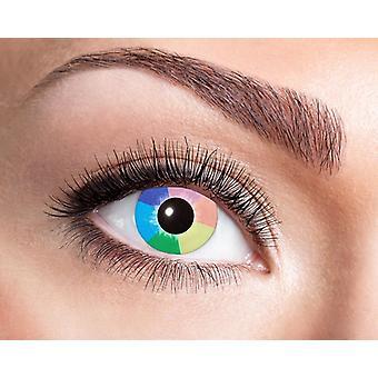 Luz UV lentes de contacto negro arco iris