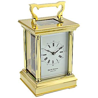 David Peterson Anglais 8 Day Mechanical Carriage Clock - Gold