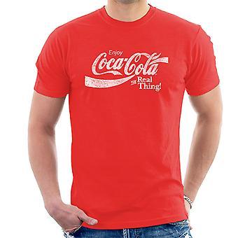 Coca-Cola a coisa Real White t-shirt dos homens de texto