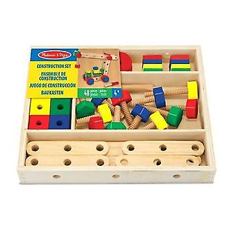 Melissa & Doug Wooden Construction Set Toy