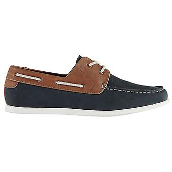 Soviet Mens Classic Boat Shoes Lace Fastening Cushioned Insole