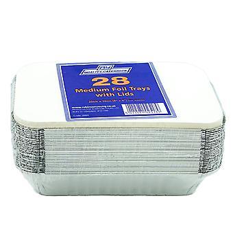 Robinson Young Medium Foil Tray & Lids 20x10cm