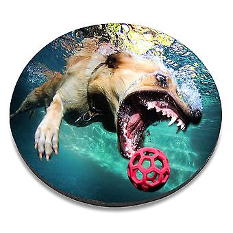 i-Tronixs - Underwater Dog Printed Design Non-Slip Round Mouse Mat for Office / Home / Gaming - 5