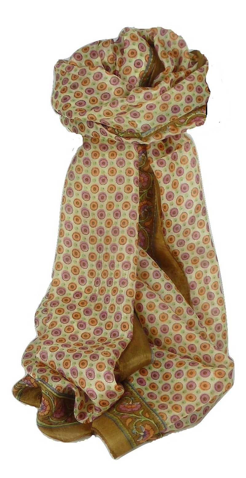 Mulberry Silk Contemporary Long Scarf Wazir Chestnut by Pashmina & Silk