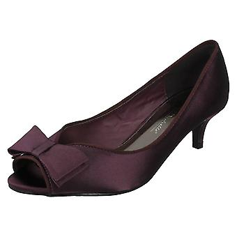 Ladies Anne Michelle Satin Occasion Wear Peep Toes F10308