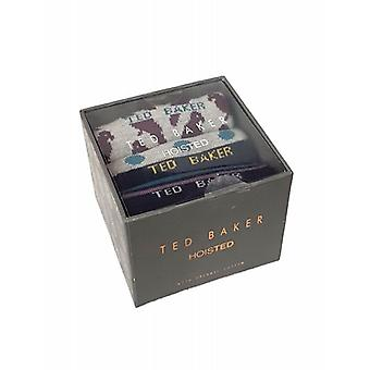 Ted Baker calcetines para hombre 3 Pack almeja Giftbox